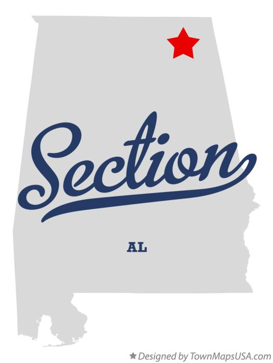 Map of Section Alabama AL