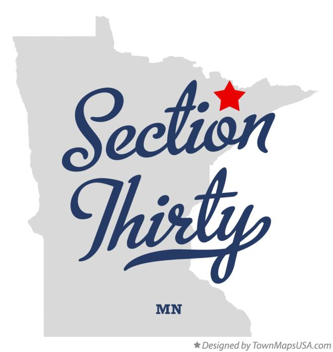 Map of Section Thirty Minnesota MN