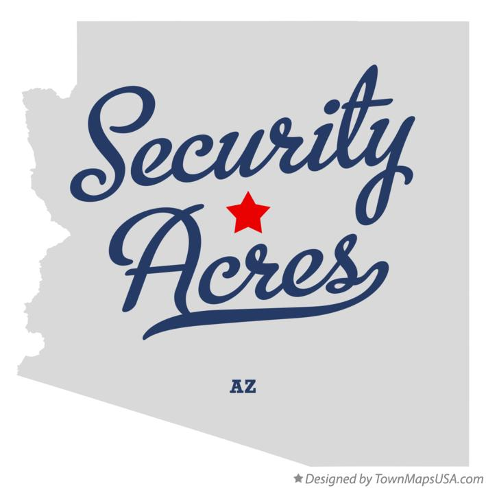 Map of Security Acres Arizona AZ