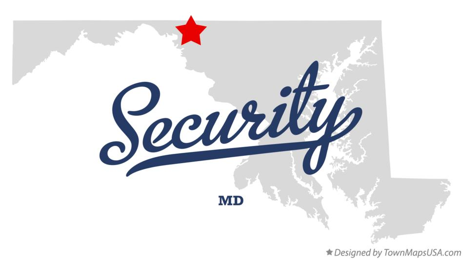 Map of Security Maryland MD