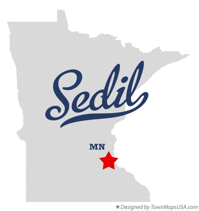 Map of Sedil Minnesota MN