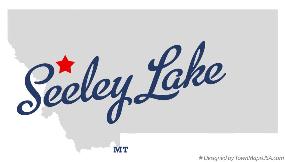 Map of Seeley Lake Montana MT
