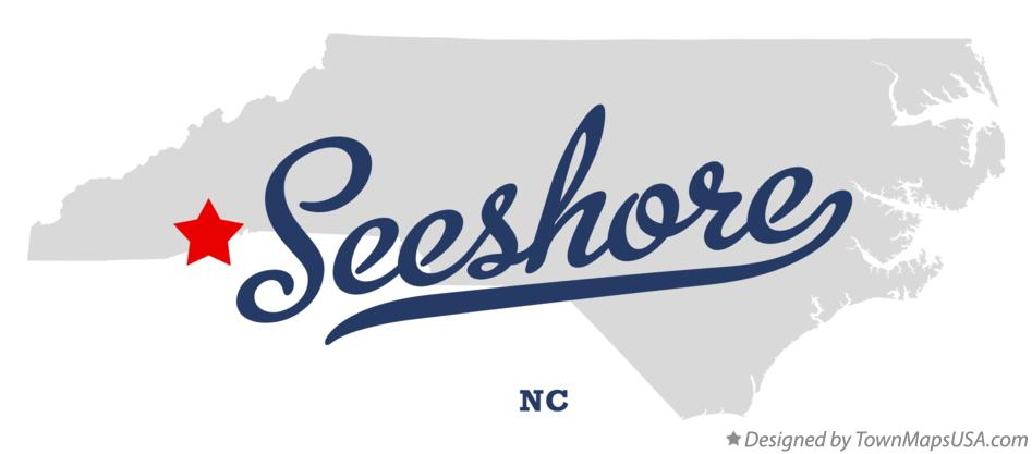 Map of Seeshore North Carolina NC