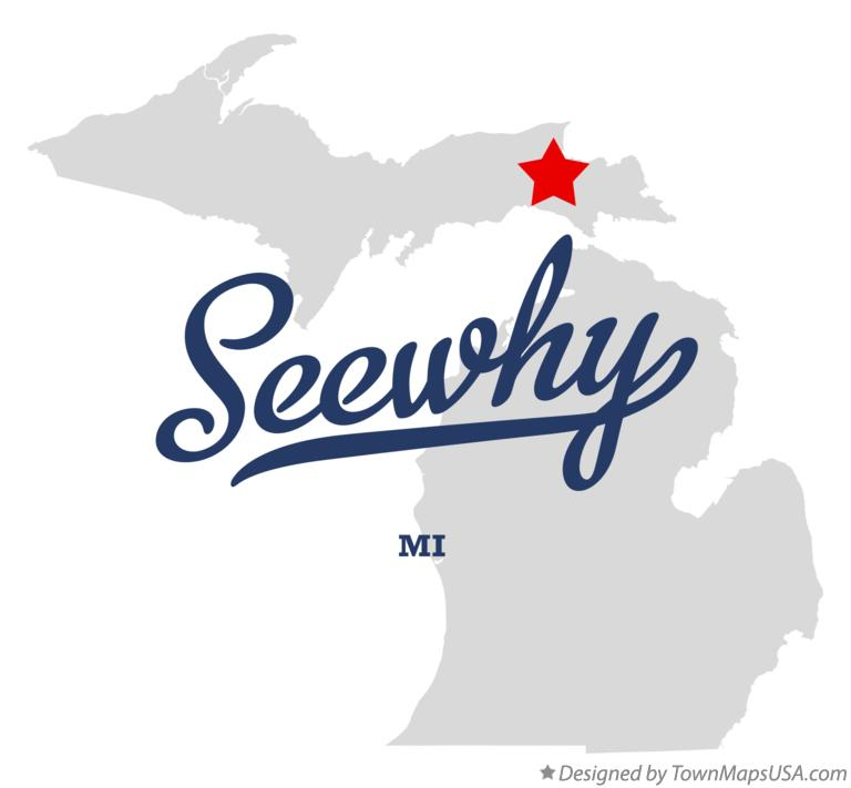 Map of Seewhy Michigan MI