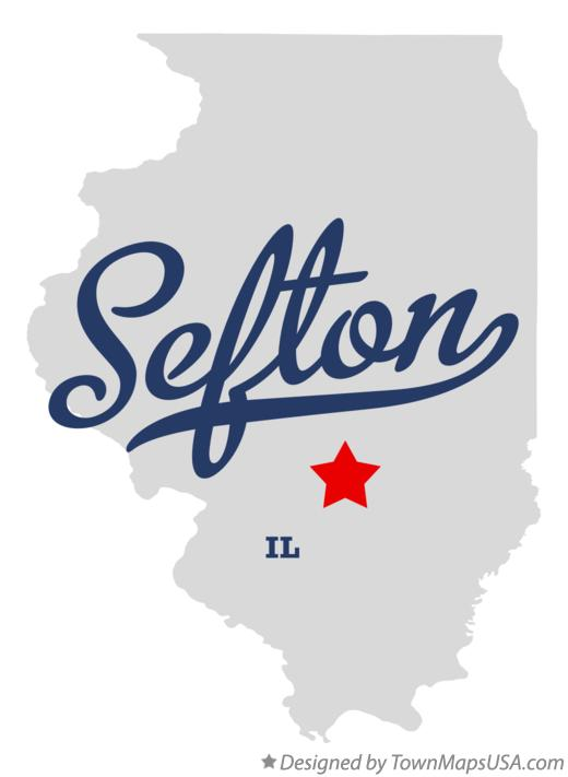 Map of Sefton Illinois IL