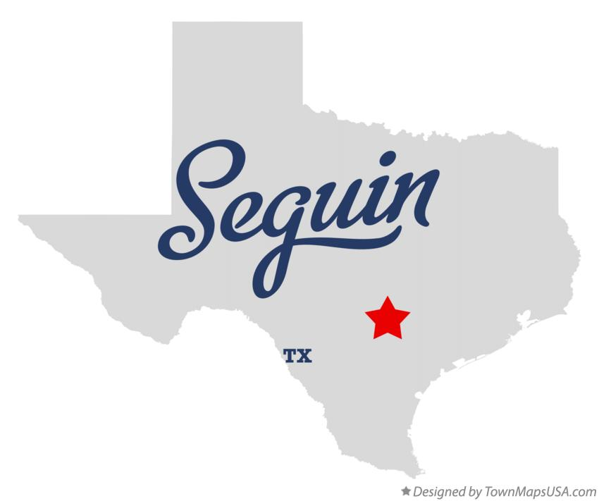 Map of Seguin Texas TX