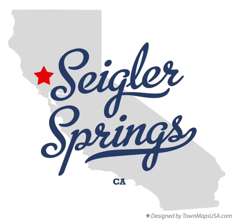 Map of Seigler Springs California CA