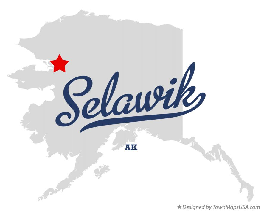 Map of Selawik Alaska AK