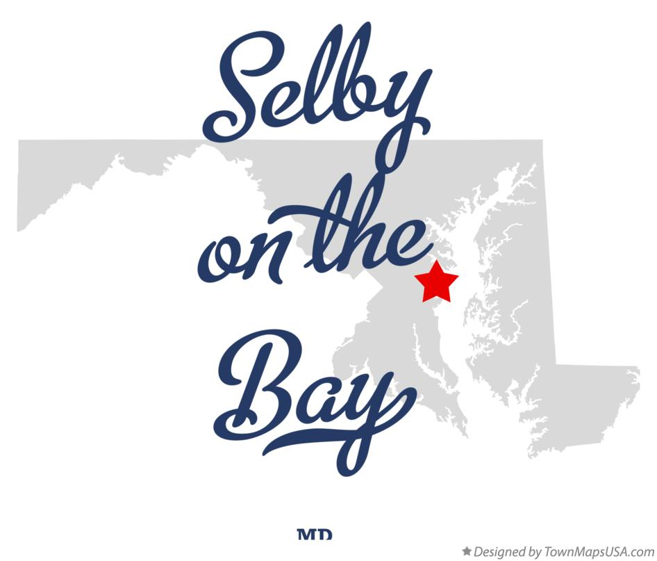 Map of Selby-on-the-Bay Maryland MD