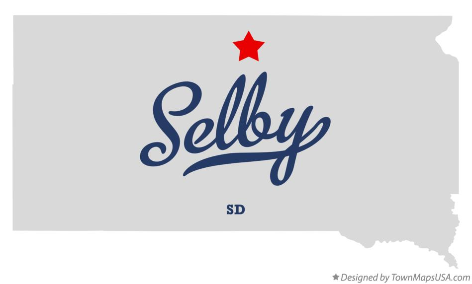 Map of Selby South Dakota SD