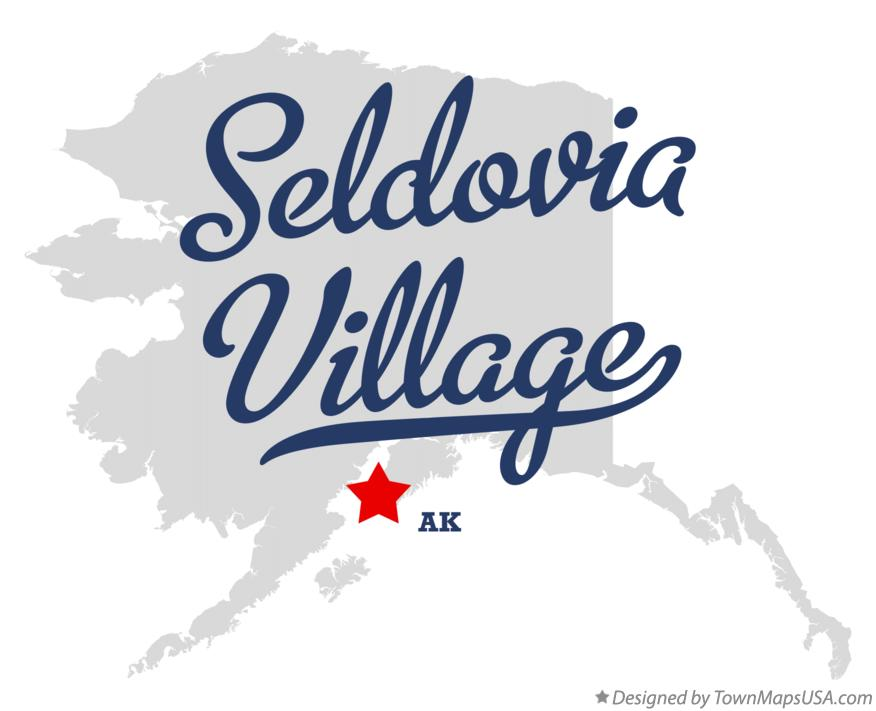 Map of Seldovia Village Alaska AK
