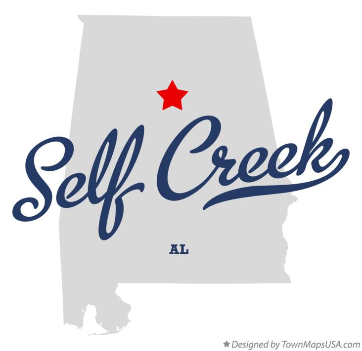 Map of Self Creek Alabama AL