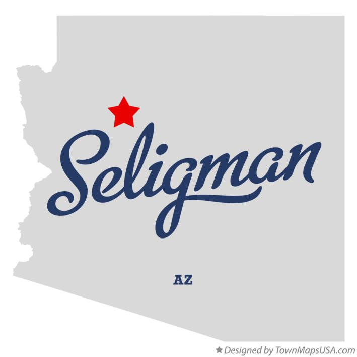Map of Seligman Arizona AZ