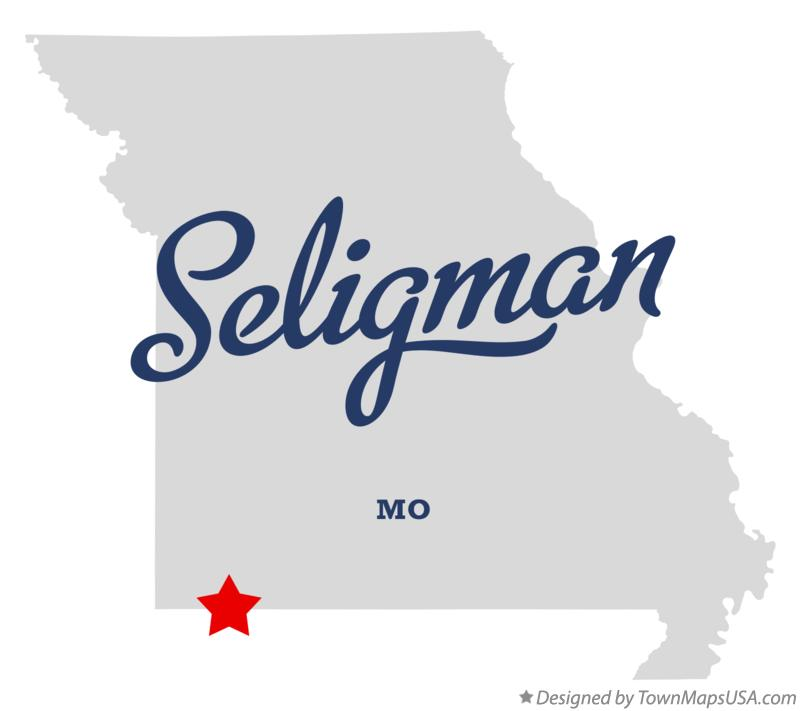 Map of Seligman Missouri MO