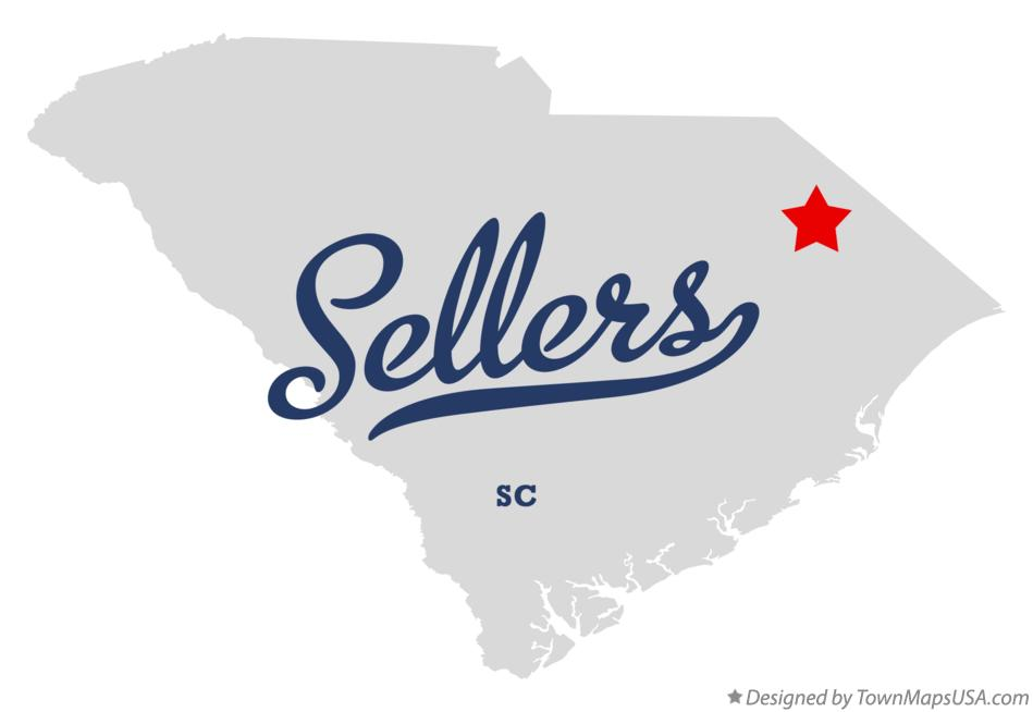 Map of Sellers South Carolina SC