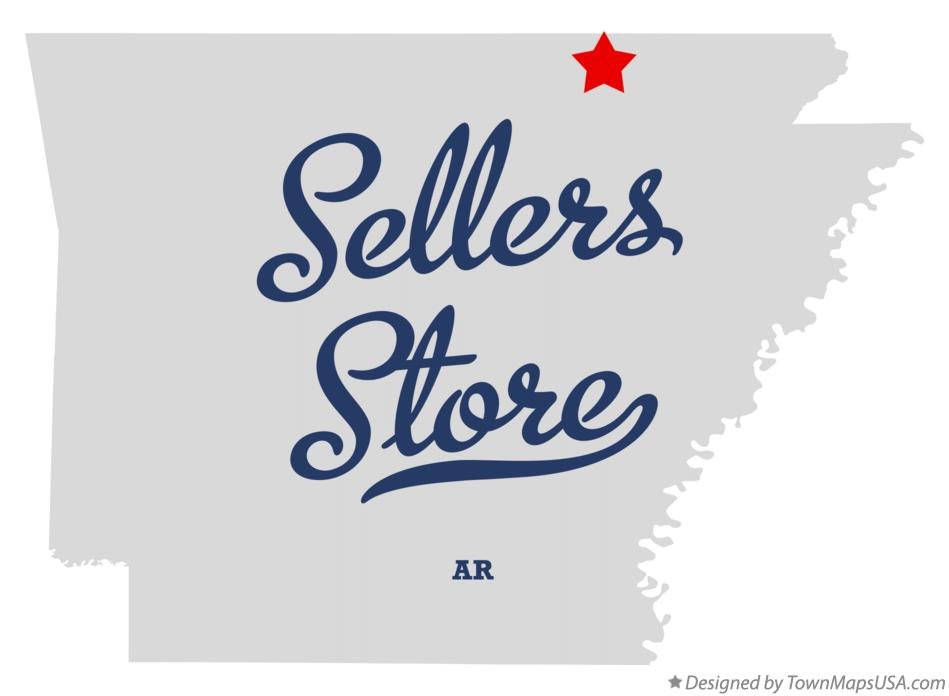 Map of Sellers Store Arkansas AR