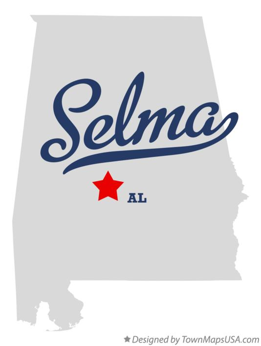 Map of Selma Alabama AL