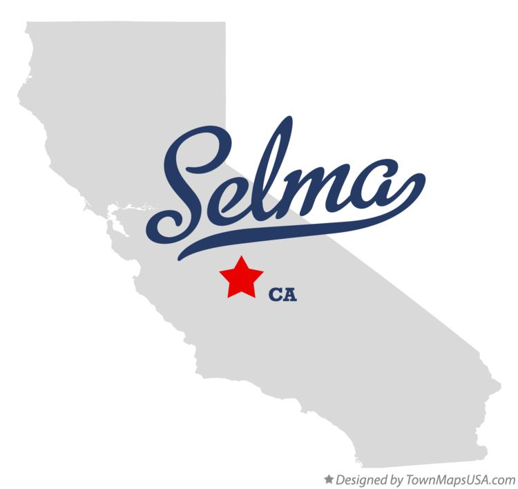 Map of Selma California CA