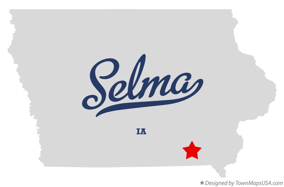 Map of Selma Iowa IA