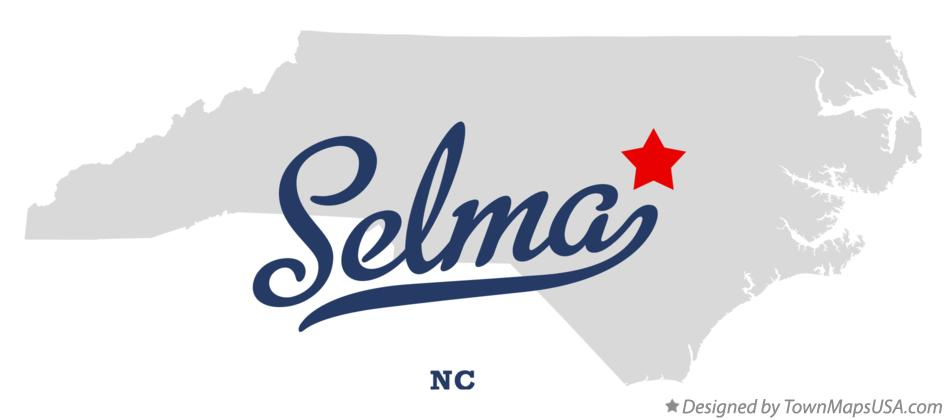 Map of Selma North Carolina NC