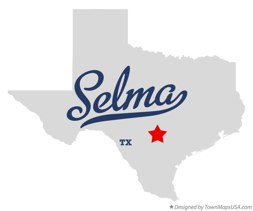 Map of Selma Texas TX