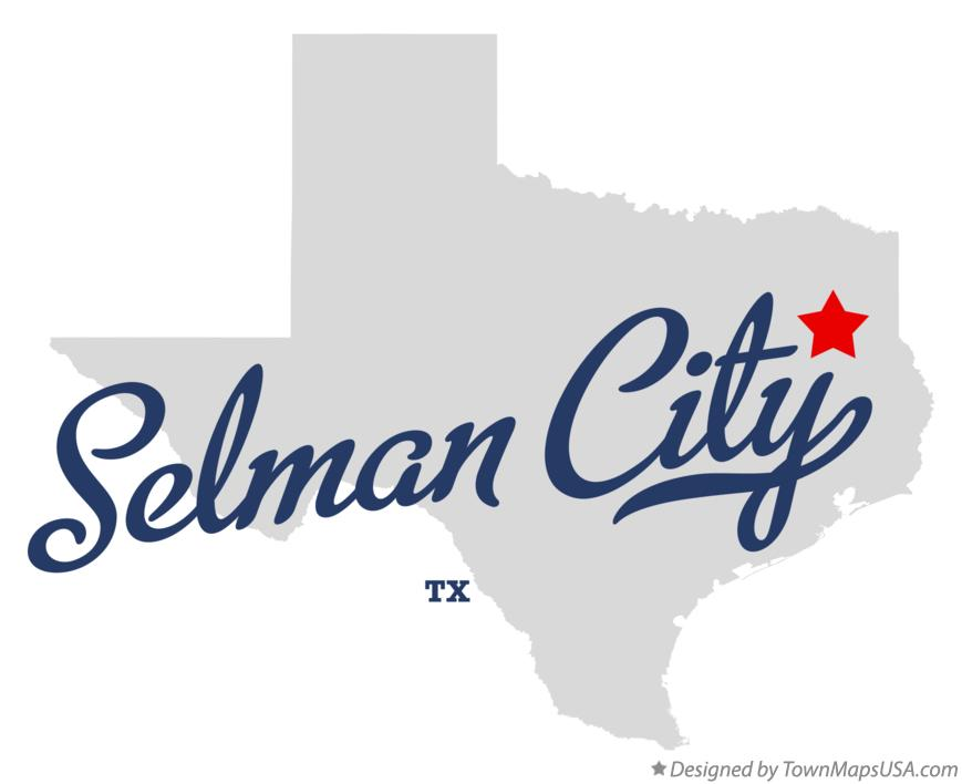 Map of Selman City Texas TX