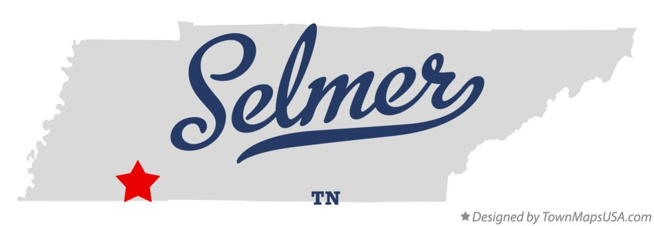 Map of Selmer Tennessee TN