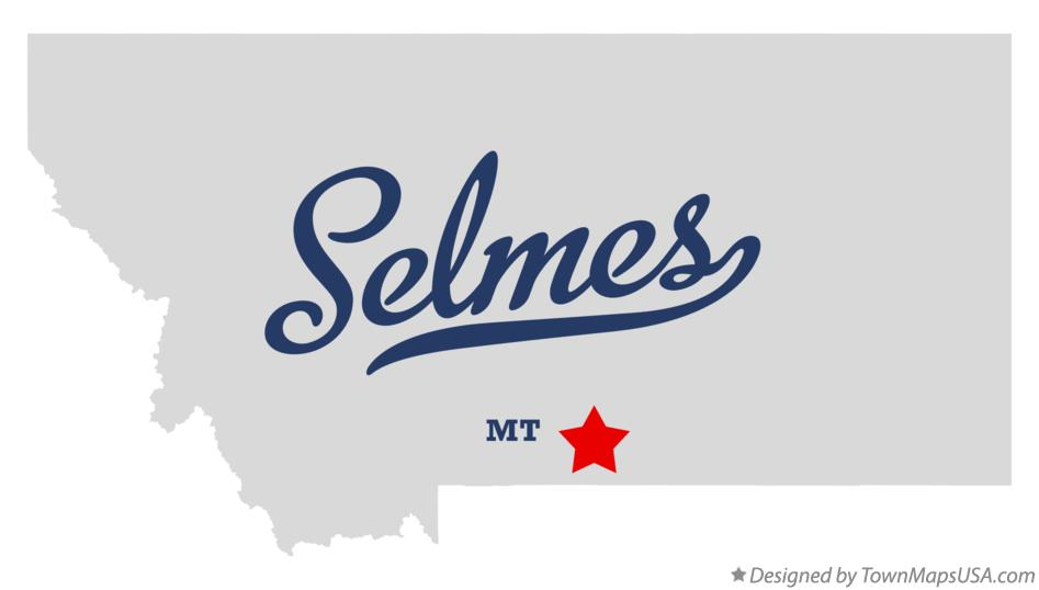 Map of Selmes Montana MT