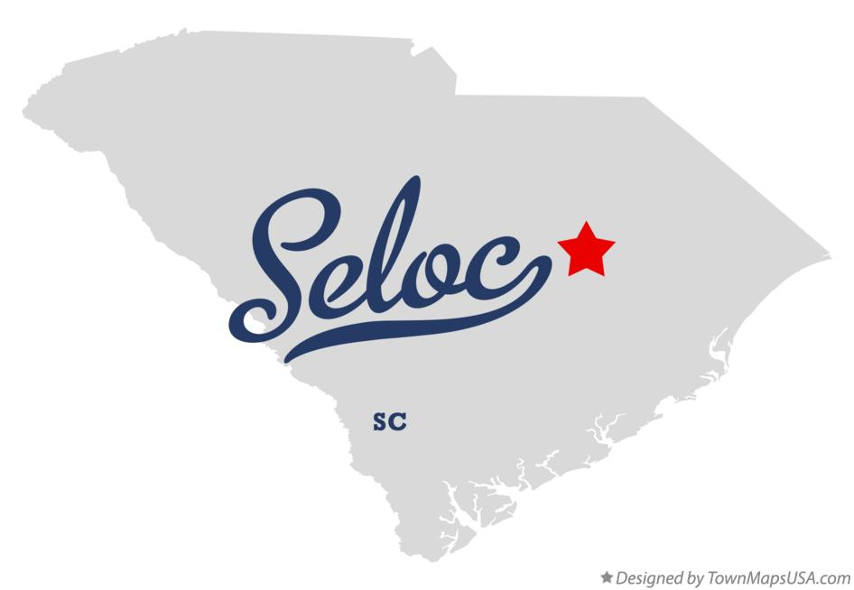 Map of Seloc South Carolina SC