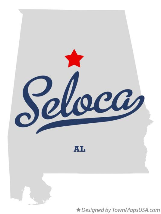 Map of Seloca Alabama AL