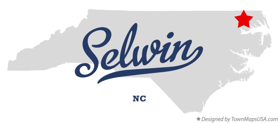 Map of Selwin North Carolina NC