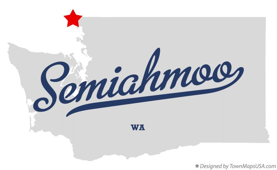 Map of Semiahmoo Washington WA
