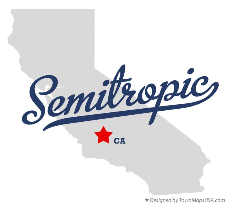 Map of Semitropic California CA