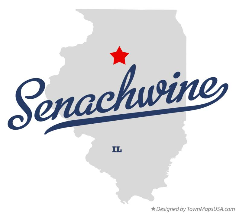 Map of Senachwine Illinois IL