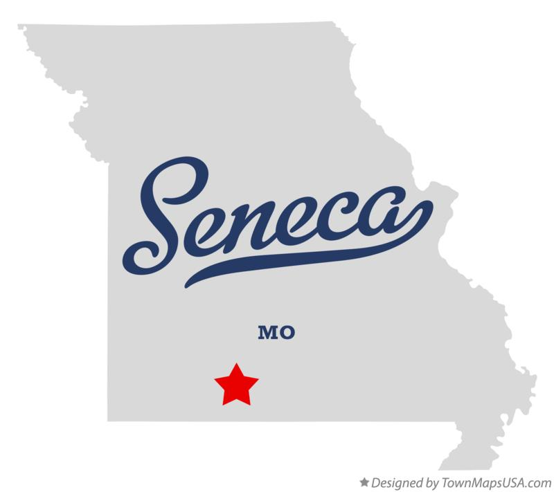 Map of Seneca Missouri MO