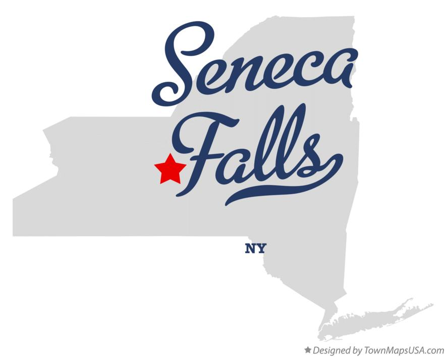 Map of Seneca Falls New York NY