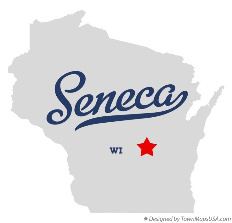Map of Seneca Wisconsin WI