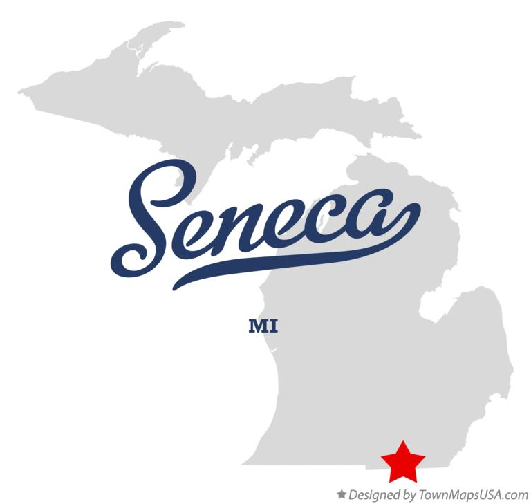 Map of Seneca Michigan MI