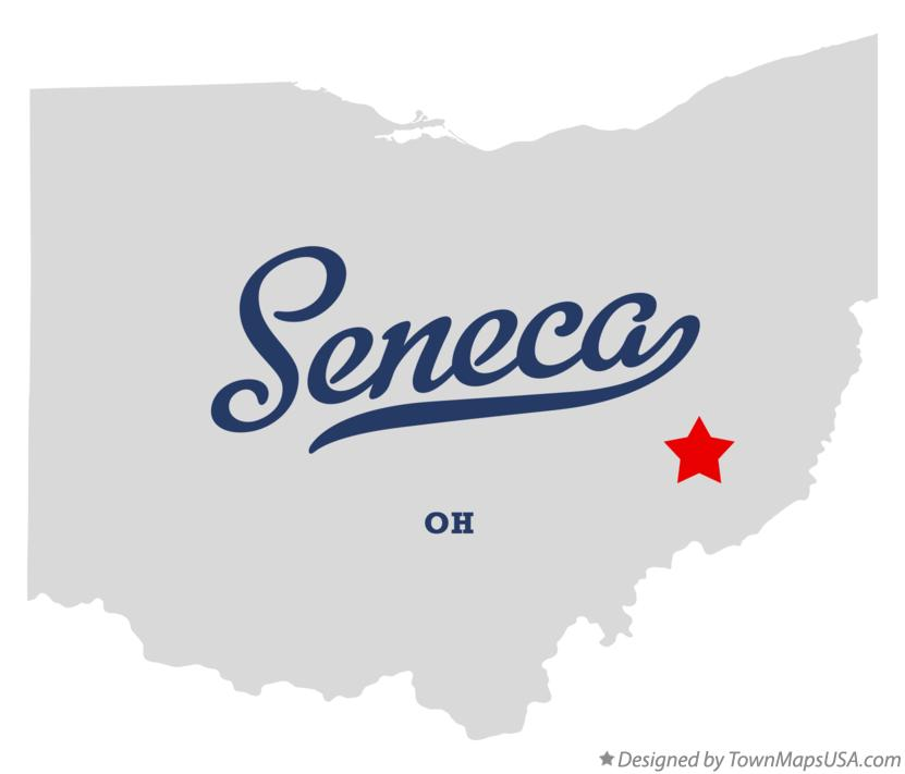 Map of Seneca Ohio OH