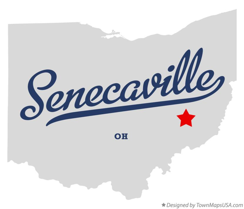 Map of Senecaville Ohio OH