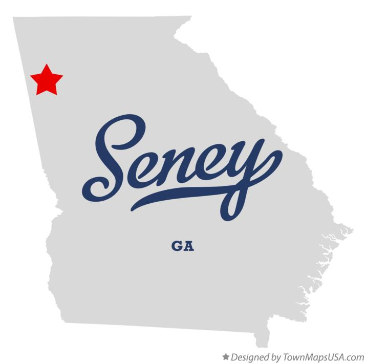 Map of Seney Georgia GA