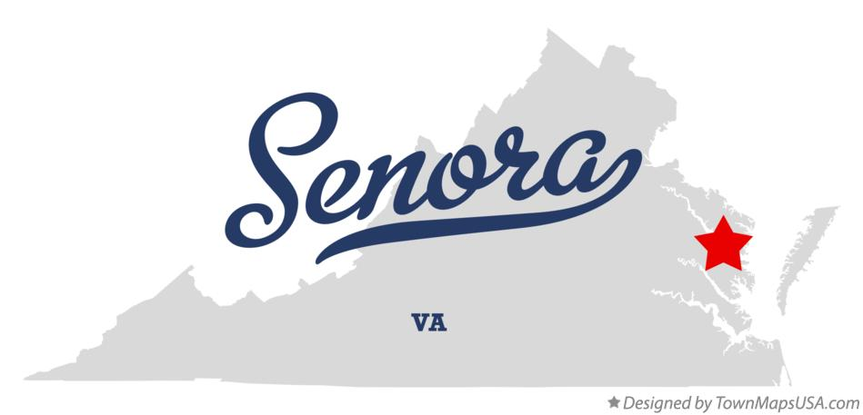 Map of Senora Virginia VA