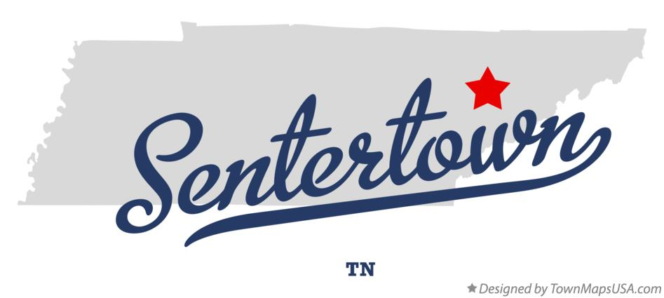 Map of Sentertown Tennessee TN