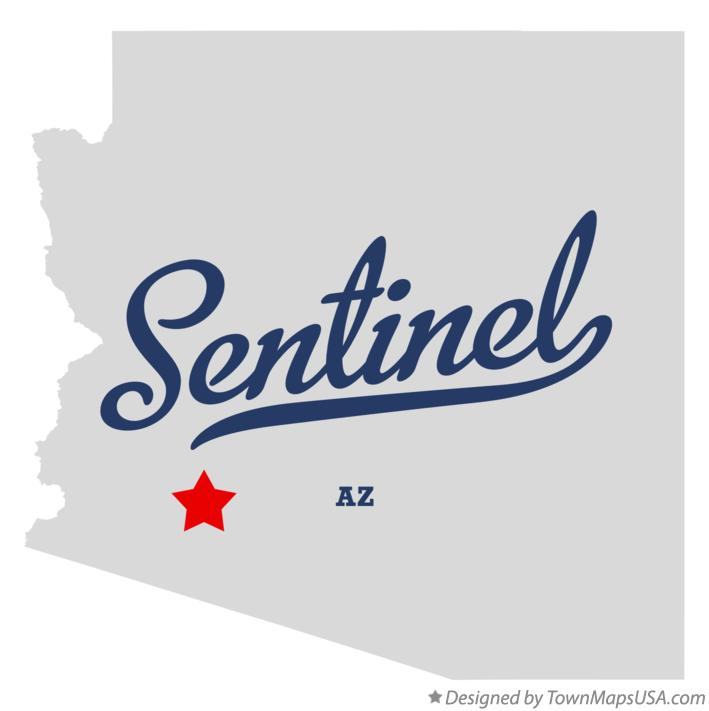 Map of Sentinel Arizona AZ
