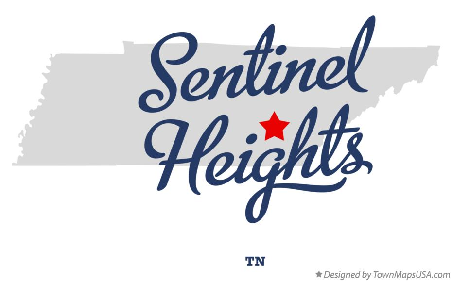 Map of Sentinel Heights Tennessee TN