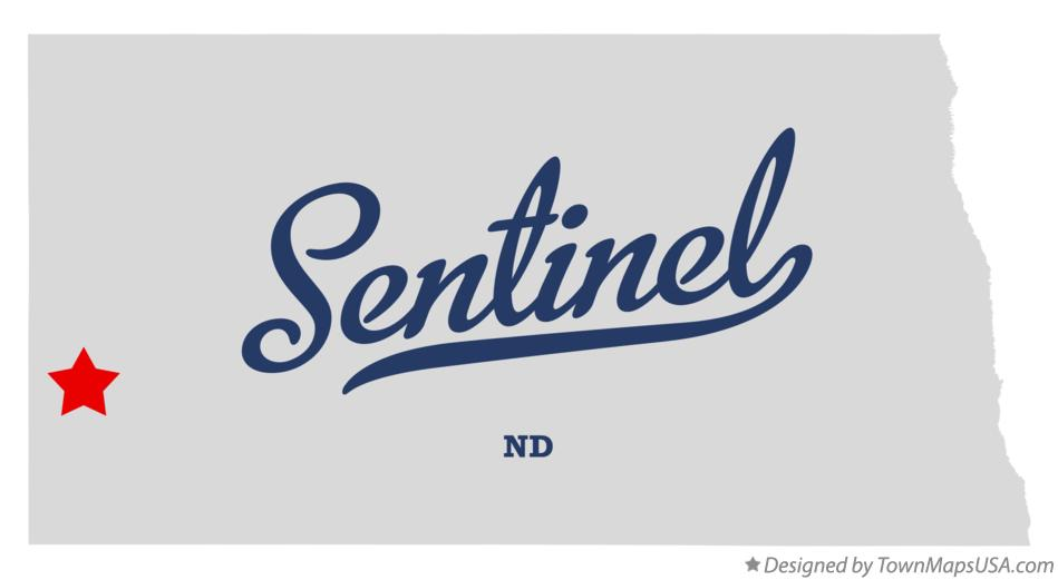 Map of Sentinel North Dakota ND