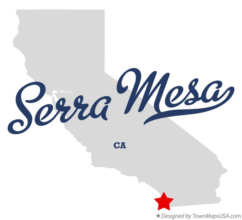 Map of Serra Mesa California CA