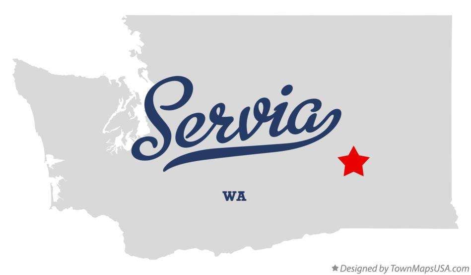Map of Servia Washington WA