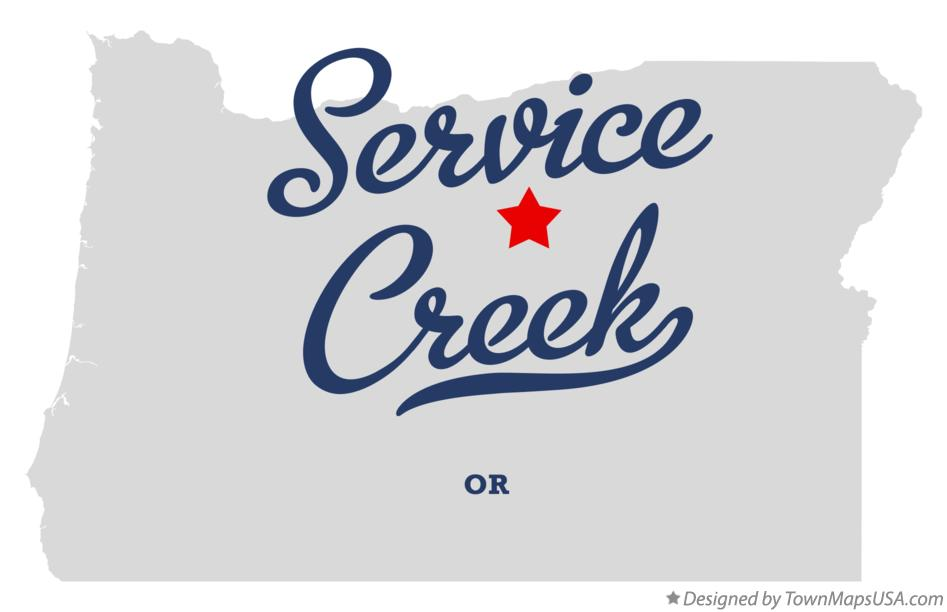 Map of Service Creek Oregon OR