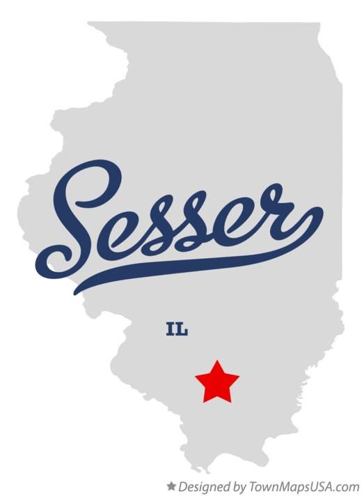 Map of Sesser Illinois IL